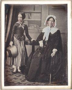 Mother & Daughter, ca. 1840s Via: Ellen on Pinterest