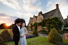 Ye Vonn and Nicholas' Two Day pre wedding and engagement shoot starting at Buckland Manor and ending at the lavender fields and villages of the Cotswolds. Lavender Fields, Couple Shoot, Engagement Shoots, Countryside, Wedding Photography, Weddings, Elegant, Couples, Wedding Dresses