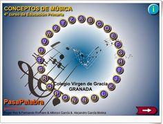 Pasapalabra de Conceptos de Música de 4º Nivel de Educación  Primaria de Genmagic. Juega con los aciertos y el tiempo empleado,  pudiendo se...