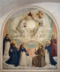 ANGELICO, FRA Vicchio di Mugello, Florencia, 1395 – Roma Coronation of the Virgin c. 1437-1446. Fresco. 185 x 167 cm. Museo di San Marco, Florence.