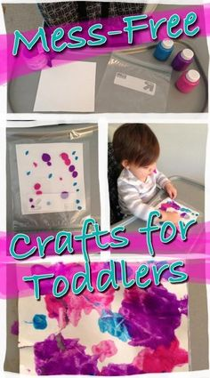 Mess-Free Crafts for Toddlers--PERFECT activity for one year olds from Nourishing Little http://Souls.com!