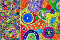 Meet The Creative Part of Me : Circle Paintings - et fælles projekt lavet af 6. årgang