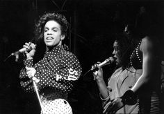 Prince with Boni Boyer and Cat Glover, Lovesexy Tour 1988