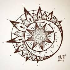 """Résultat de recherche d'images pour """"soleil dessin tatouage"""""""