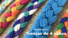 Trenza de 4 cabos paso a paso (diy) Best Picture For Crochet patrones For Your Taste You are looking for something, and it is going. Crochet Cord, Crochet Diy, Crochet Stitches, Bracelet Fil, Bracelet Crafts, Cordon Crochet, 4 Strand Braids, Armband Diy, Diy Bracelets Easy