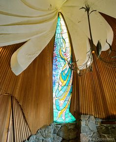 Stained Glass Window - The Sea Ranch Chapel - Sonoma County, Ca