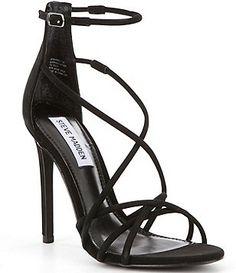 Steve Madden Strapped Criss Cross Ankle Strap Dress Sandals