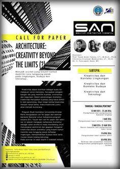 #CallForPaper #Seminar #Arsitektur #SAN #Petra #Surabaya Call for Paper Seminar Arsitektur Nasional 2016 Architecture: Creativity Beyond The Limits  DEADLINE: 25 Januari 2016  http://infosayembara.com/info-lomba.php?judul=call-for-paper-seminar-arsitektur-nasional-2016-architecture-creativity-beyond-the-limits