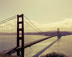 Travel Photography, Golden Gate Bridge San Francisco by raceytay, etsy
