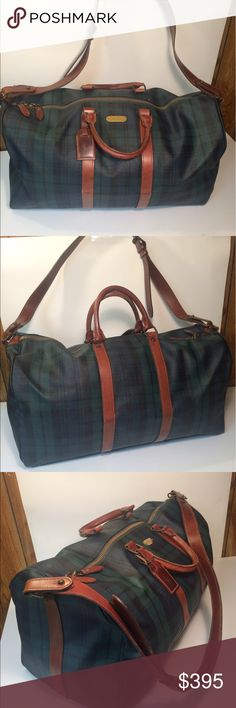 Selling this Polo Ralph Lauren Tartan Plaid Carry On Travel Bag on Poshmark! My username is: deepeevintage. #shopmycloset #poshmark #fashion #shopping #style #forsale #Polo by Ralph Lauren #Other