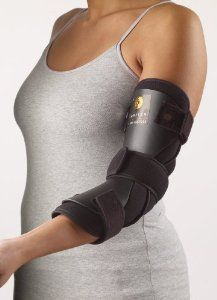 Unique anterior design immobilizes and positions elbow at while allowing easy access to dressing Indicated for Cubital Tunnel Syndrome or post-op application Constructed of high density polyet… Cubital Tunnel Syndrome, Tennis Elbow, Neck Pain, Braces, Nice Tops, Health And Beauty, Dressing, Female, How To Wear