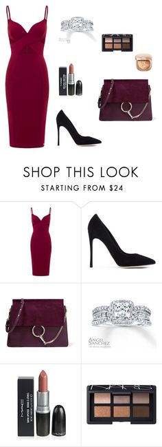 """Cocktail outfit"" by nskilic ❤ liked on Polyvore featuring Gianvito Rossi, Chloé, Angel Sanchez and NARS Cosmetics"