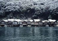 "traditional ""Funaya"" boathouse for fisherman in Ine, Kyoto,Japan"