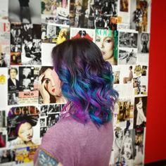 Galaxy hair. #elumengijon #elumenasturias #peluqueriagijon #pelodecolores #gijon #oviedo #aviles #asturias