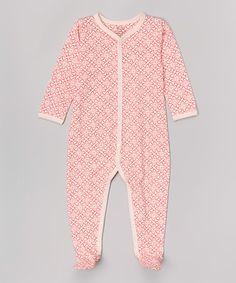 Look what I found on #zulily! Fuchsia Floral Organic Footie - Infant #zulilyfinds