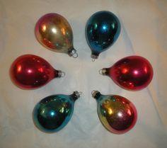 Christmas Ornaments - 1960's Shiny Brite Ornaments
