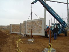 Commercial Concrete Fence Wall Installation this is a good idea if you can handle the cost and have the property.