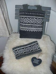 Noor-Strikk: Marius veske og pannebånd Bra Storage, Diy Nightstand, Built In Wardrobe, Jewelry Case, Chanel Boy Bag, Diy Design, Easy Crafts, Knitting Patterns, Shoulder Bag