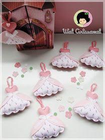 Wal Artesanal o site do feltro: Princess dress