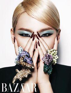 CL 2NE1 for Harpers Bazaar Korea March 2013