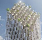 C.F. Møller Unveils Plans for a Solar-Powered Wood Skyscraper in Stockholm