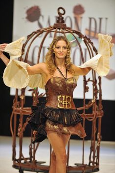 Salon du chocolat 2010 - Paris. Love the chocolate birdcage.