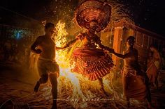 'Kandanar Kelan Theyyam' tells the story of yesteryears hero Kelan from the land of Payyanoor. He was burned in a forest fire along with two snakes and was brought to life by Vayanattu Kulavan a warrior god. In this act the Theyyam artist runs in and out of fire barefoot to depict this incident they also has the drawings of two snakes on their chest in memory of the 2 snakes that died with kelan.. Normally this theyyam is performed by people from Vannan caste. This is very dangerous form of…