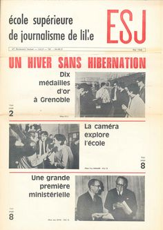 Journal ESJ, de mai 1968.