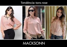 Bom dia! Invista na camisa com tom rose para trazer ainda mais feminilidade aos seus looks, tanto para os dias de trabalho quanto para as noites no barzinho.