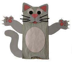 Manualidad con bolsa de papel el gato