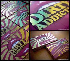 Dirty Addiction Business Card + Logo Design - Business Card Design Inspiration | Card Nerd
