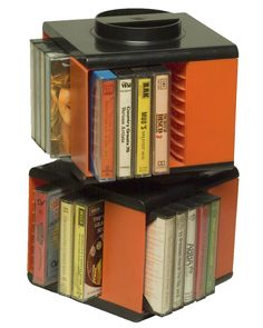 Porta musicassette girevoli #nostalgy #1970s #seventies - Carefully selected by Gorgonia www.gorgonia.it