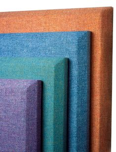 Sonora acoustical wall panels by Acoustics First are fabric wrapped acoustical panels. These decorative wall panels absorb sound and reduce echo. Decorative Wall Panels, 3d Wall Panels, Fabric Panels, Acoustic Fabric, Acoustic Wall Panels, Screen Design, Wall Design, Cinema Room Small, Acustic Panels