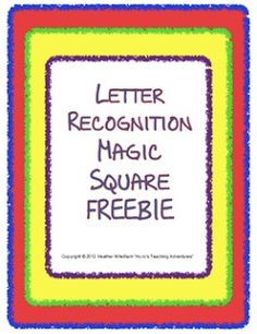 How to Use Magic Square Puzzles! With FREE Letter Recognition puzzle!