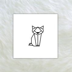 Geometric cat Temporary tattoo Set of 2 by TTTattoodotcom on Etsy