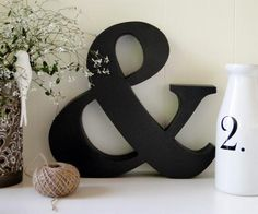 Ampersand Wall Decor wall clock - white and black kensington station metal wall clock