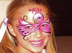 Flamingo face paint