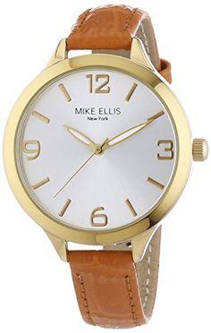 Mike Ellis New York Damen-Armbanduhr Streamline Analog Quarz L3142E - http://uhr.haus/mike-ellis-new-york/mike-ellis-new-york-damen-armbanduhr-streamline