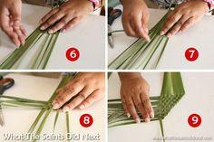Wanda's easy flax weaving instructions on how to make harakeke flowers. Weaving Process, Weaving Techniques, Maori Patterns, Flax Weaving, Basket Weaving Patterns, Flower Arrangement Designs, Floral Arrangements, Flax Flowers, Leaf Art