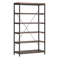 Verona Home Easley Wide Etagere in Brown - www.BedBathandBeyond.com