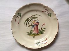 Antique-French-Faience-Chinoiserie-Plate-ff517