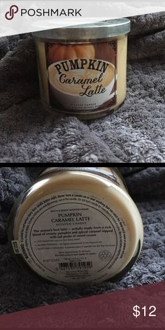 Bath and body pumpkin caramel latte candle Brand new 3 wick candle. Smells like heave! Bath and Body Works  Other