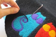 Needle-felted picture decoration Лорел Берч —