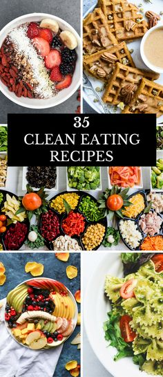 35 Clean Eating Recipes For Beginners Clean Eating is a healthy way to achieve your weight loss goals, but like most diets, you need a plan. Here's a few of my favorite tips and quick prep clean eating meals that are easy to make! Whether you're looking for clean eating breakfast, lunch, dinner, or even snack ideas, there is something for you on this list of healthy clean eating recipes. #cleaneating #cleaneatingrecipe