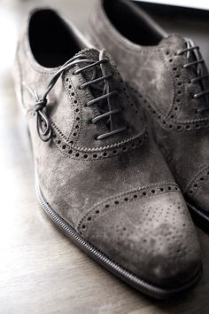 Guy Style Guide - thatdappermotherfucker: Suede brogues are the...