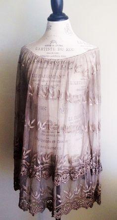Karamel Embroidered Lace Tunic