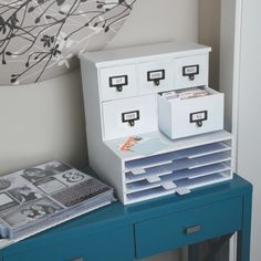 We R Memory Keepers - Combine Albums Made Easy Storage (Card Cabinet and Sleeve Shelves)