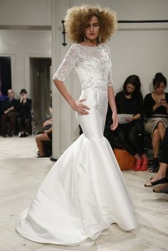 Badgley Mischka Bridal Fall 2014 - Love the details. Pick 1-3 details to recreate in your customize wedding dress.