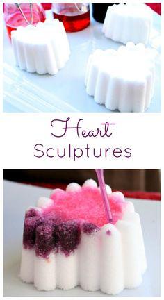 Heart Sculptures Screen-Free Activities for Kids
