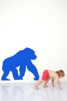 WALL*MANIA muursticker | wall decal #gorilla
